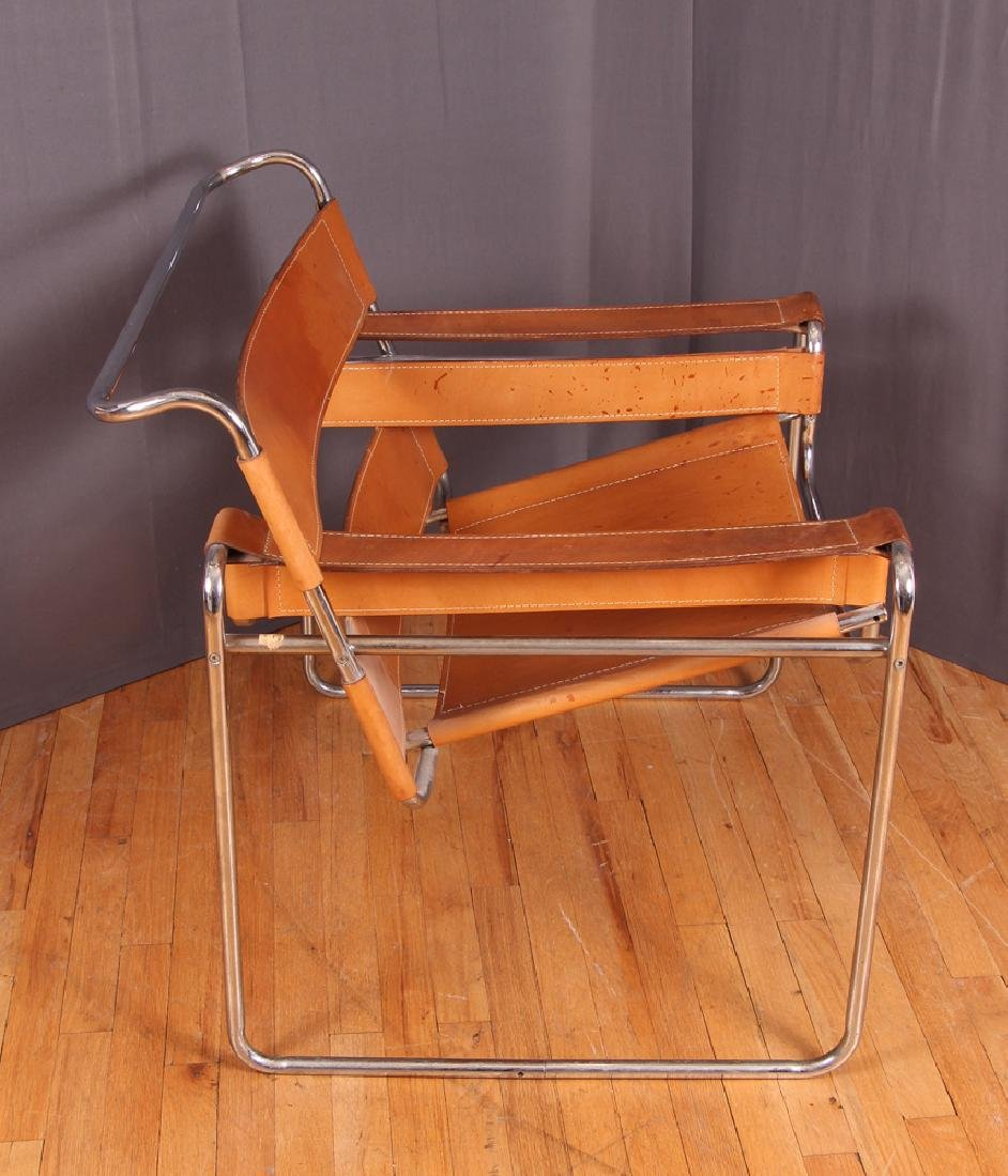 Breuer Wassily Chair with tan leather upholstery - 3