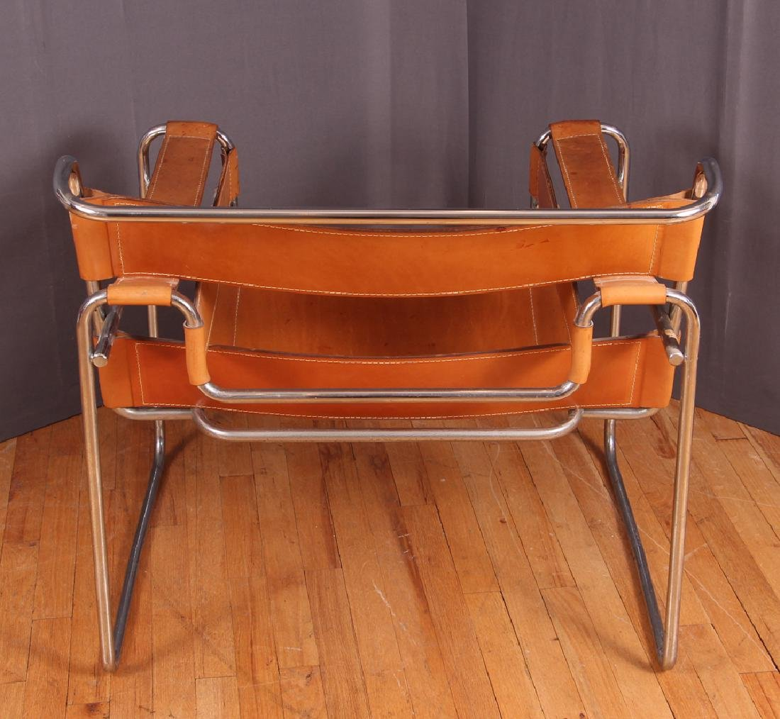 Breuer Wassily Chair with tan leather upholstery - 4