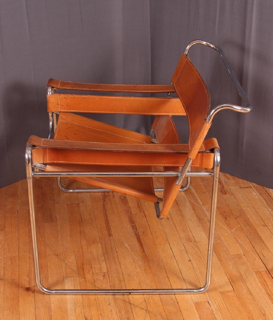 Breuer Wassily Chair with tan leather upholstery - 5