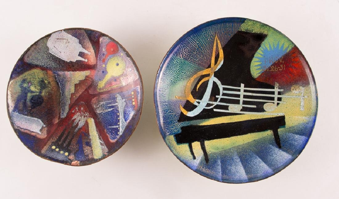 Two Virgil Cantini Enamel Bowls - 2