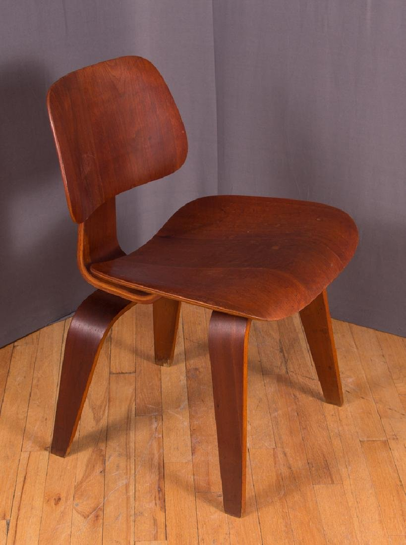 Eames for Evans Midcentury Walnut DCW Lounge Chair