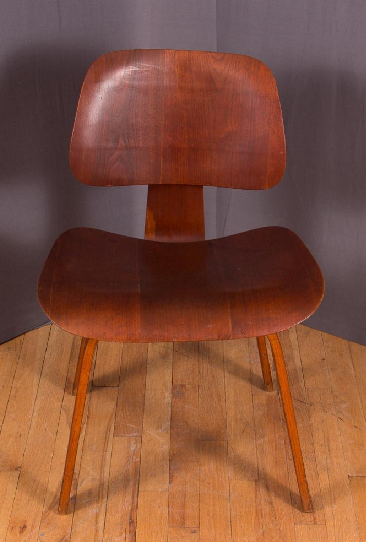 Eames for Evans Midcentury Walnut DCW Lounge Chair - 2