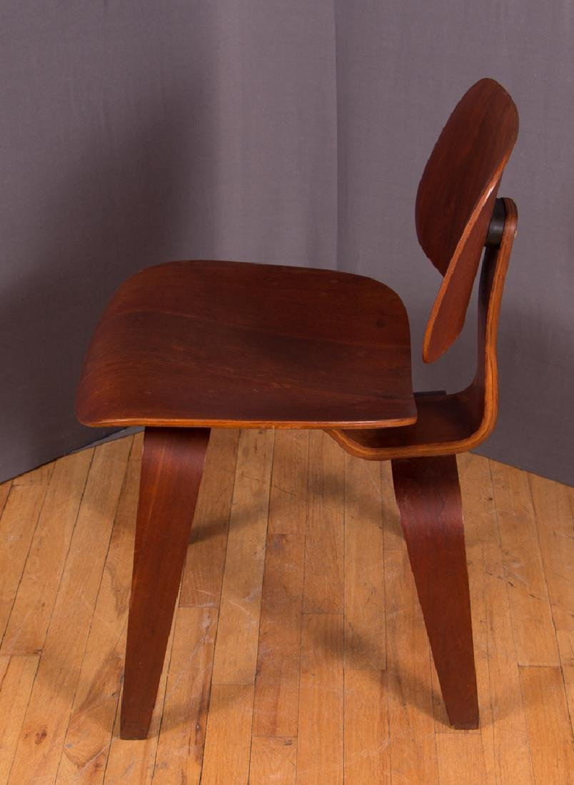 Eames for Evans Midcentury Walnut DCW Lounge Chair - 3