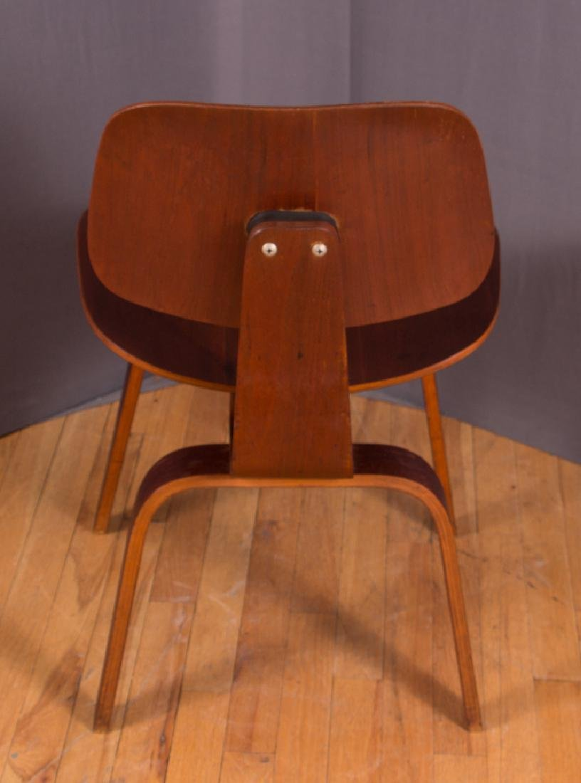Eames for Evans Midcentury Walnut DCW Lounge Chair - 4