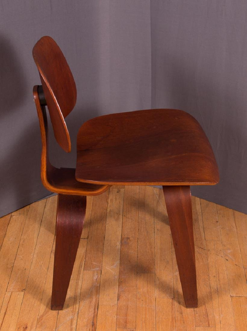 Eames for Evans Midcentury Walnut DCW Lounge Chair - 5