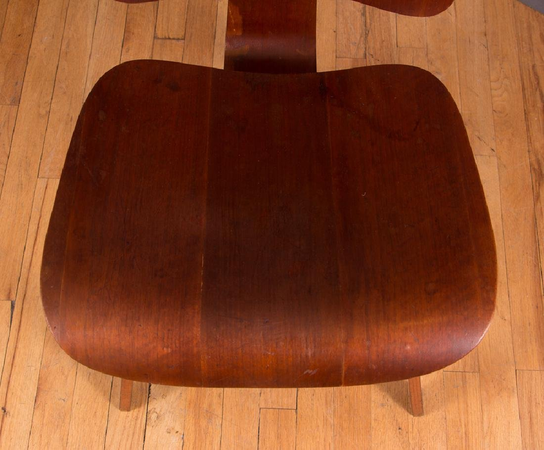 Eames for Evans Midcentury Walnut DCW Lounge Chair - 6