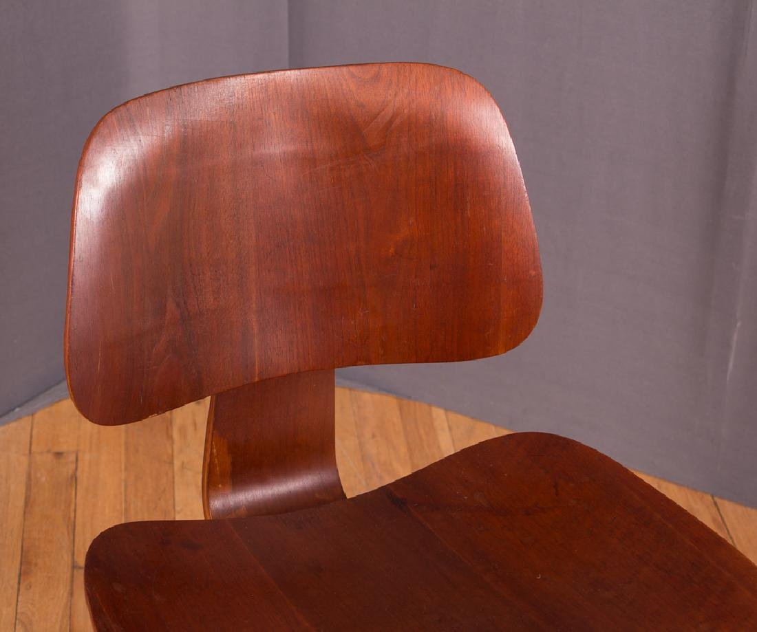Eames for Evans Midcentury Walnut DCW Lounge Chair - 7