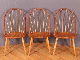 Three Thomas Moser Bow Back Chairs