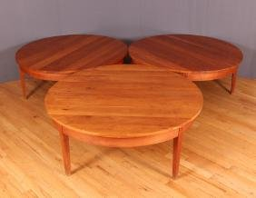 Three Thomas Moser Round Ring Coffee Tables