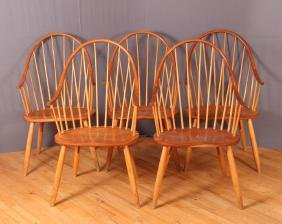 Five Thomas Moser Continuous Arm Chairs