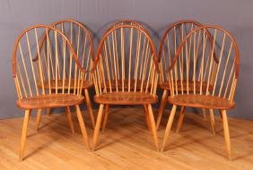 Six Thomas Moser Continuous Arm Chairs