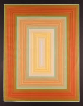 Richard Anuszkiewicz serigraph  Infinity (no. 7 of the