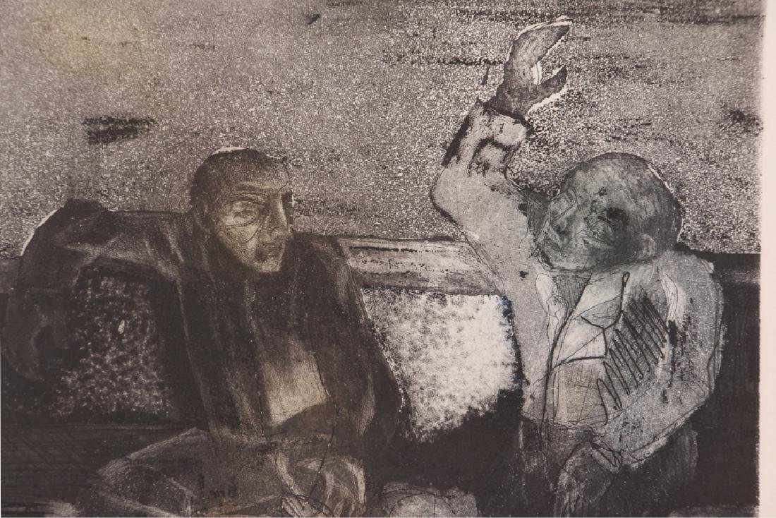 Manuel Cabrera The Conversation Etching - 5