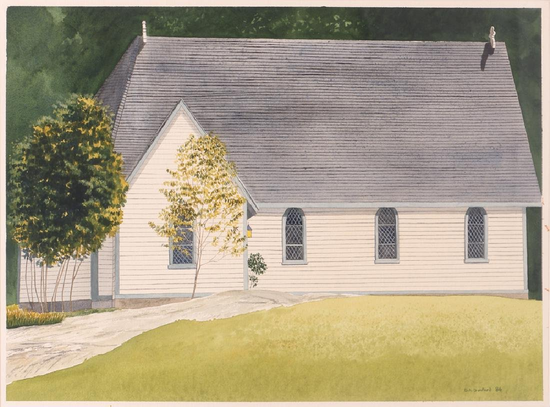 D. A. Dunford 1986 w/c Church in Ontario