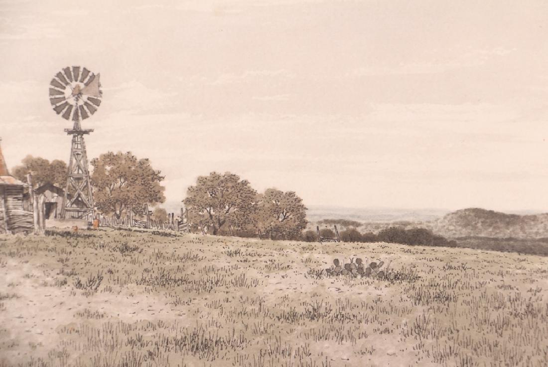 Bill Earnest Texas Farm Watercolor - 5