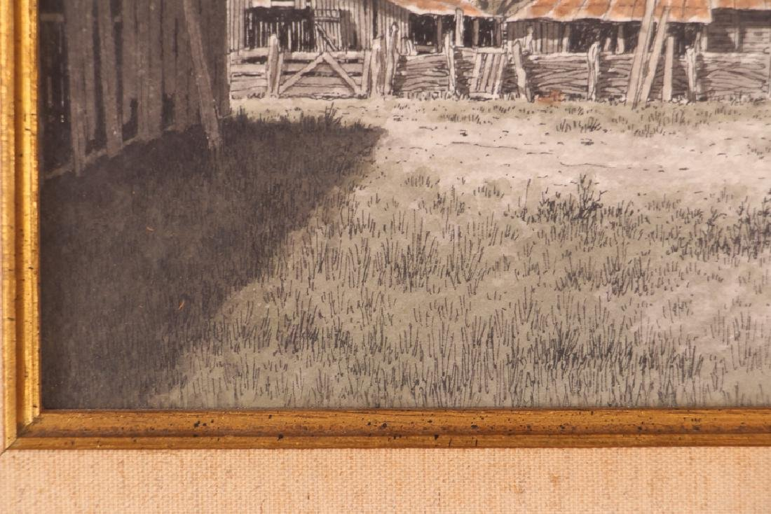 Bill Earnest Texas Farm Watercolor - 6