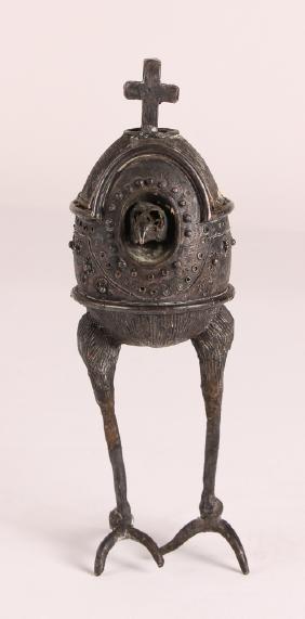 "Henry ""Hank"" Evjenth 1960's Fanciful Bird bronze"
