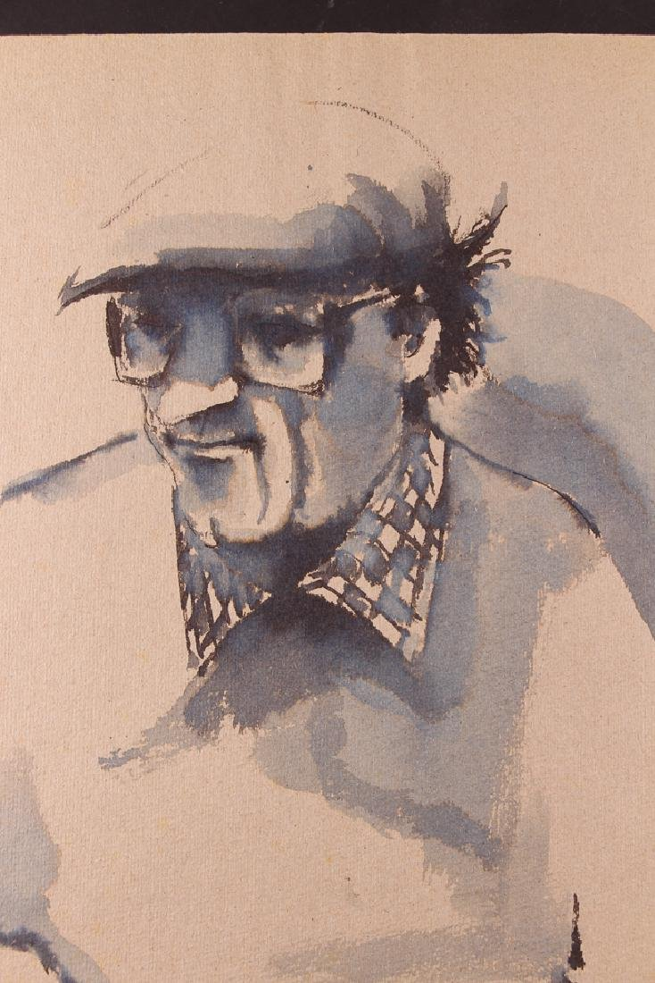 Michael Falick ink wash drawing of  Dave Brubeck. - 3