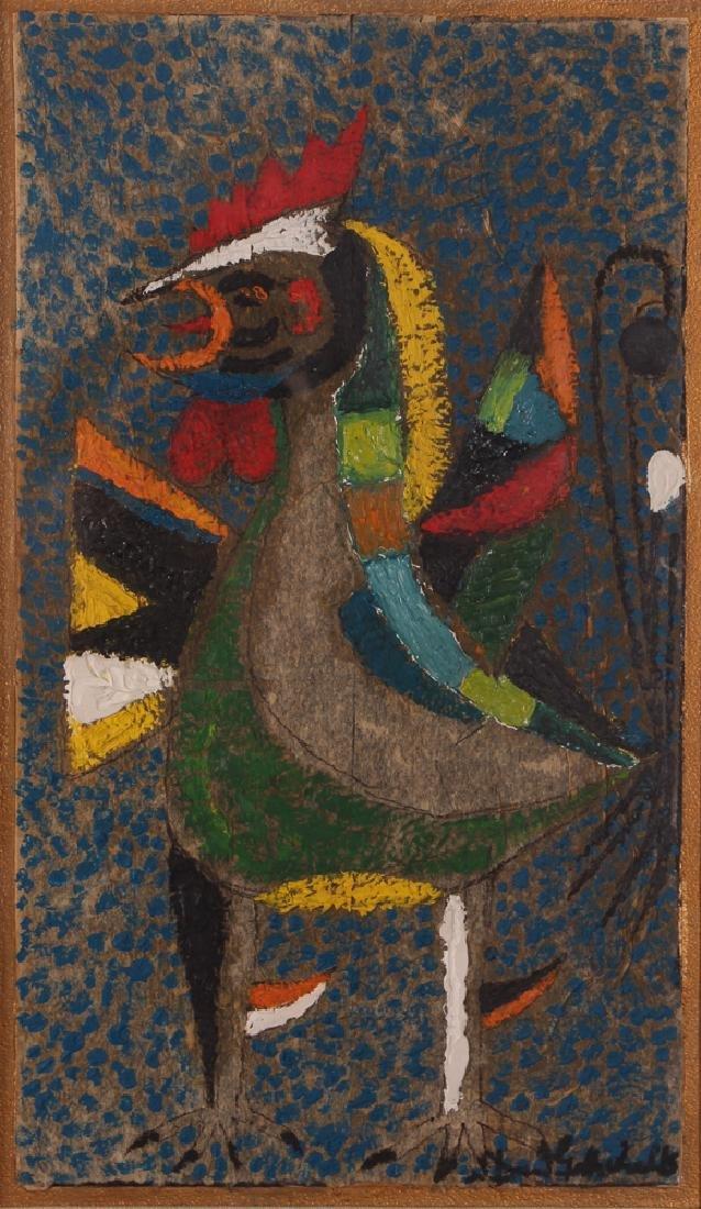 Dan Gottschalk Abstracted Rooster Painting