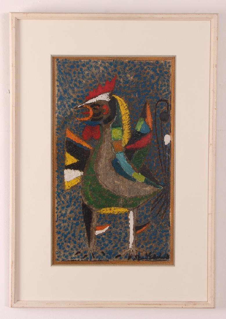 Dan Gottschalk Abstracted Rooster Painting - 2