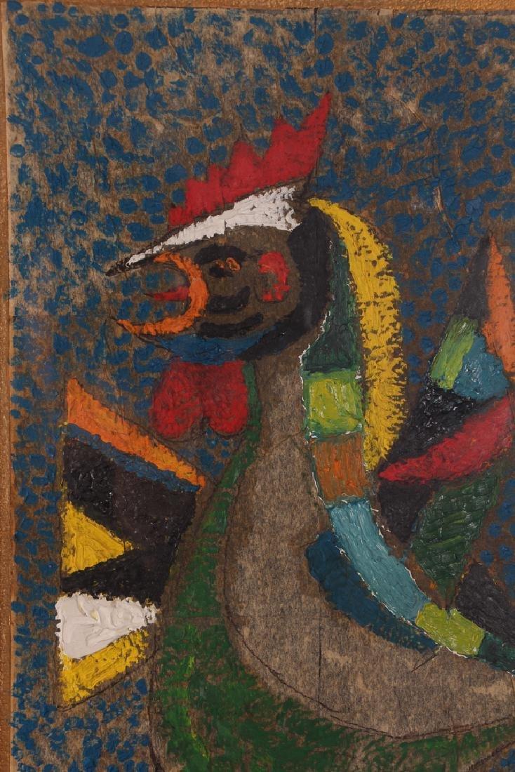 Dan Gottschalk Abstracted Rooster Painting - 5