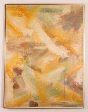 Jane  Haskell late 1950's painting  #1 Yellow
