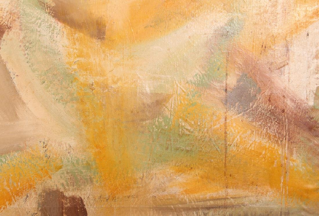 Jane  Haskell late 1950's painting  #1 Yellow - 4