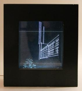 Jane Haskell, Market Square, c. 1978, Etched plexi