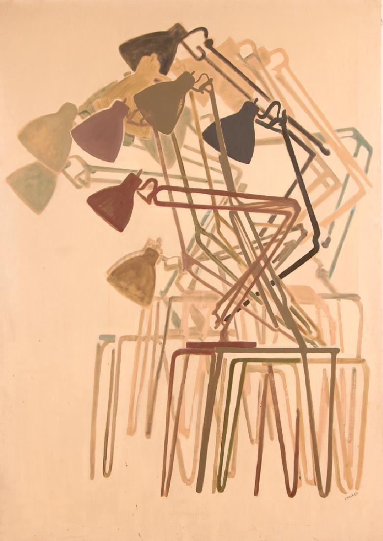 Jane Haskell 1960's painting Rush Hour