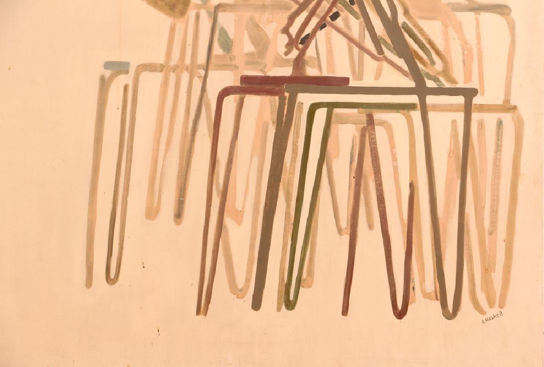 Jane Haskell 1960's painting Rush Hour - 2