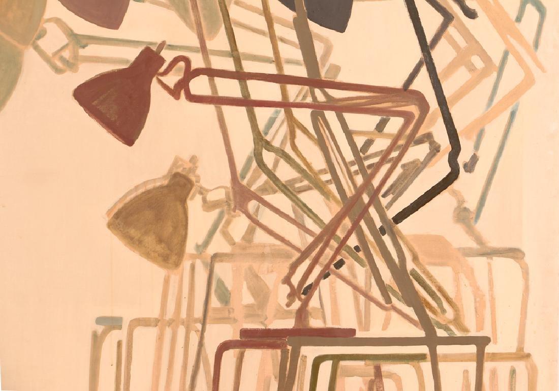 Jane Haskell 1960's painting Rush Hour - 3