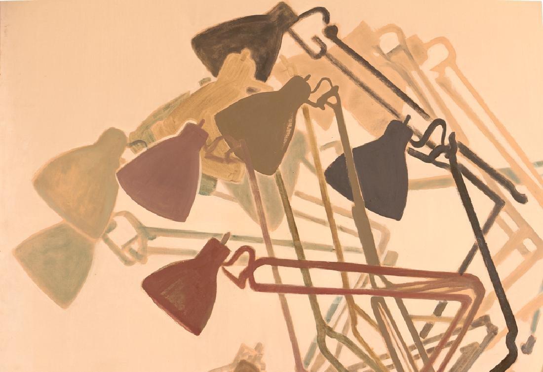 Jane Haskell 1960's painting Rush Hour - 4