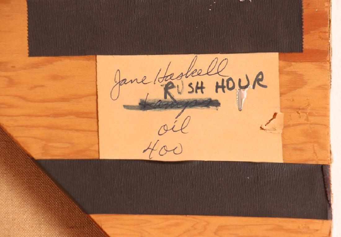 Jane Haskell 1960's painting Rush Hour - 8