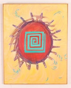 Kathy Hamilton Teta Painting, 1988