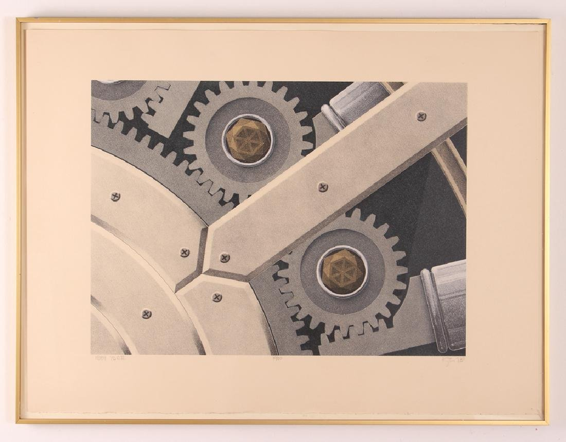 Hugh Kepets 1889 YDR II 1983 Mechanical Lithograph - 2