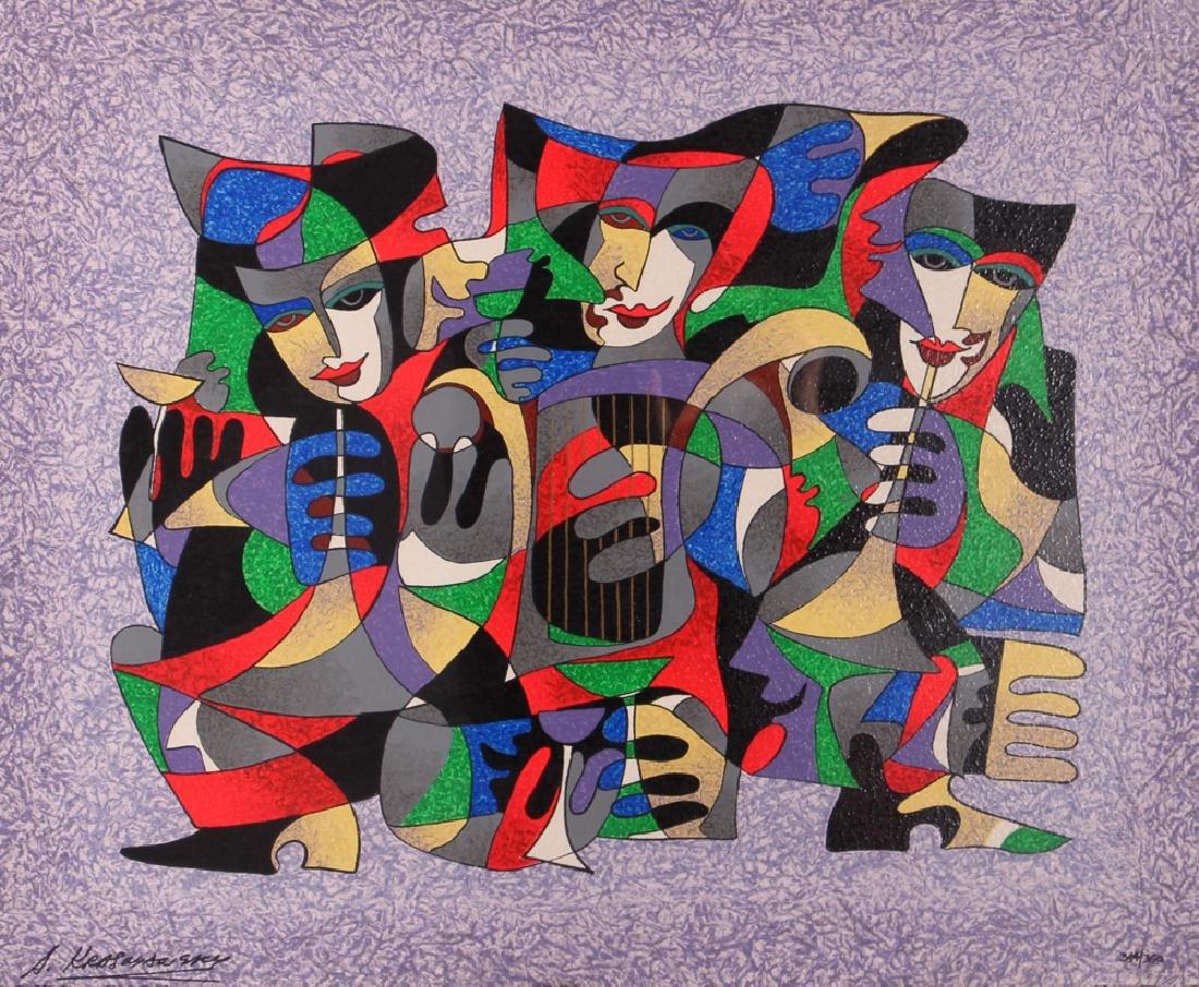 Antole Krasnyansky Musical Themed Serigraph