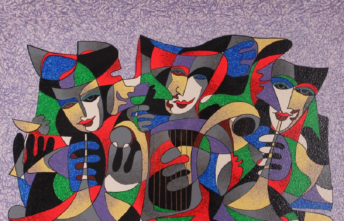 Antole Krasnyansky Musical Themed Serigraph - 5