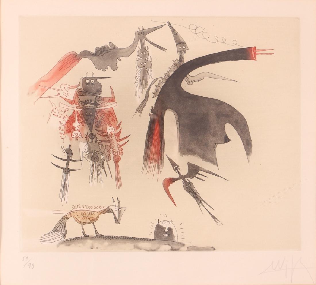 Wilfredo Lam Abstract Aquatint