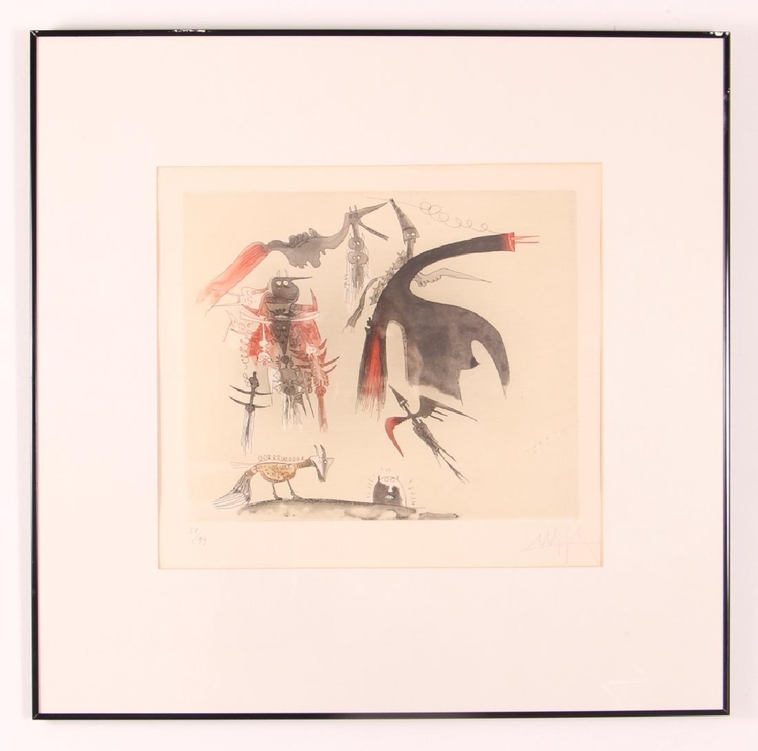 Wilfredo Lam Abstract Aquatint - 2