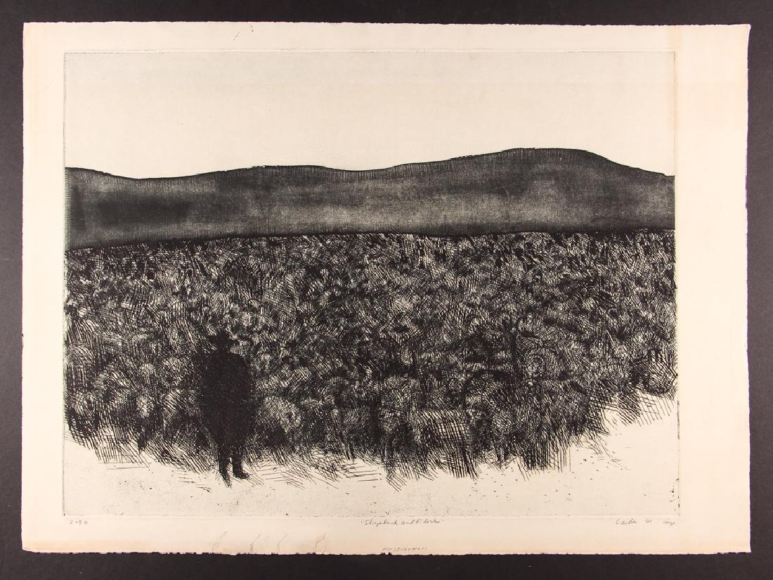 5 Gerson Leiber 1960's orig etchings and lithographs - 7