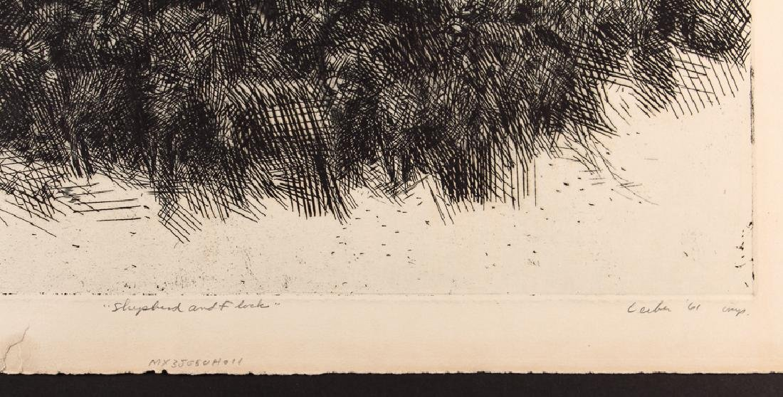 5 Gerson Leiber 1960's orig etchings and lithographs - 8