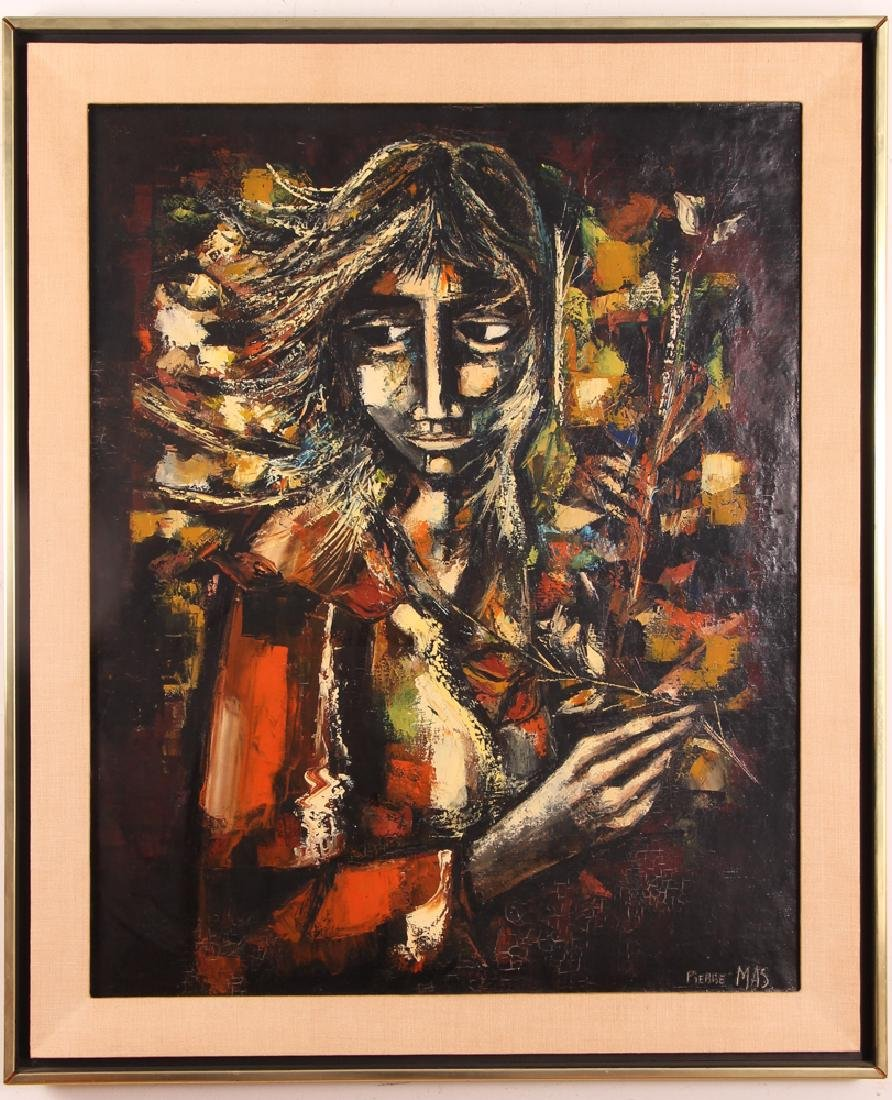 Pierre Mas Portrait of a Forlorn Woman Oil Painting - 2