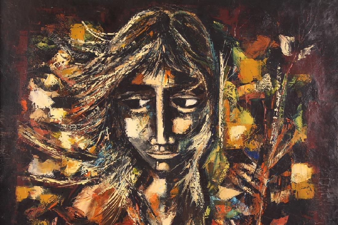 Pierre Mas Portrait of a Forlorn Woman Oil Painting - 4
