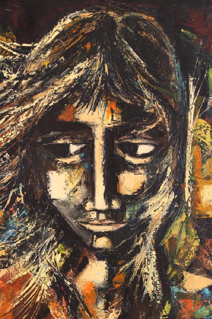 Pierre Mas Portrait of a Forlorn Woman Oil Painting - 5