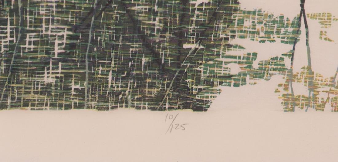 Gordon Mortensen Autumn Birch Reduction Woodcut - 4