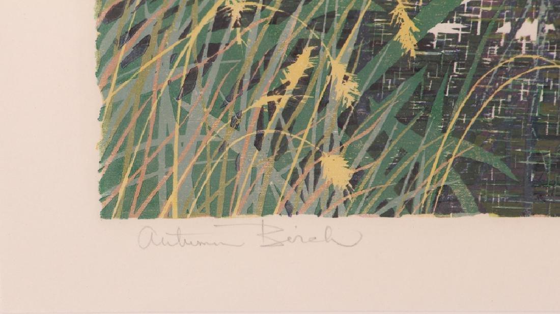 Gordon Mortensen Autumn Birch Reduction Woodcut - 5