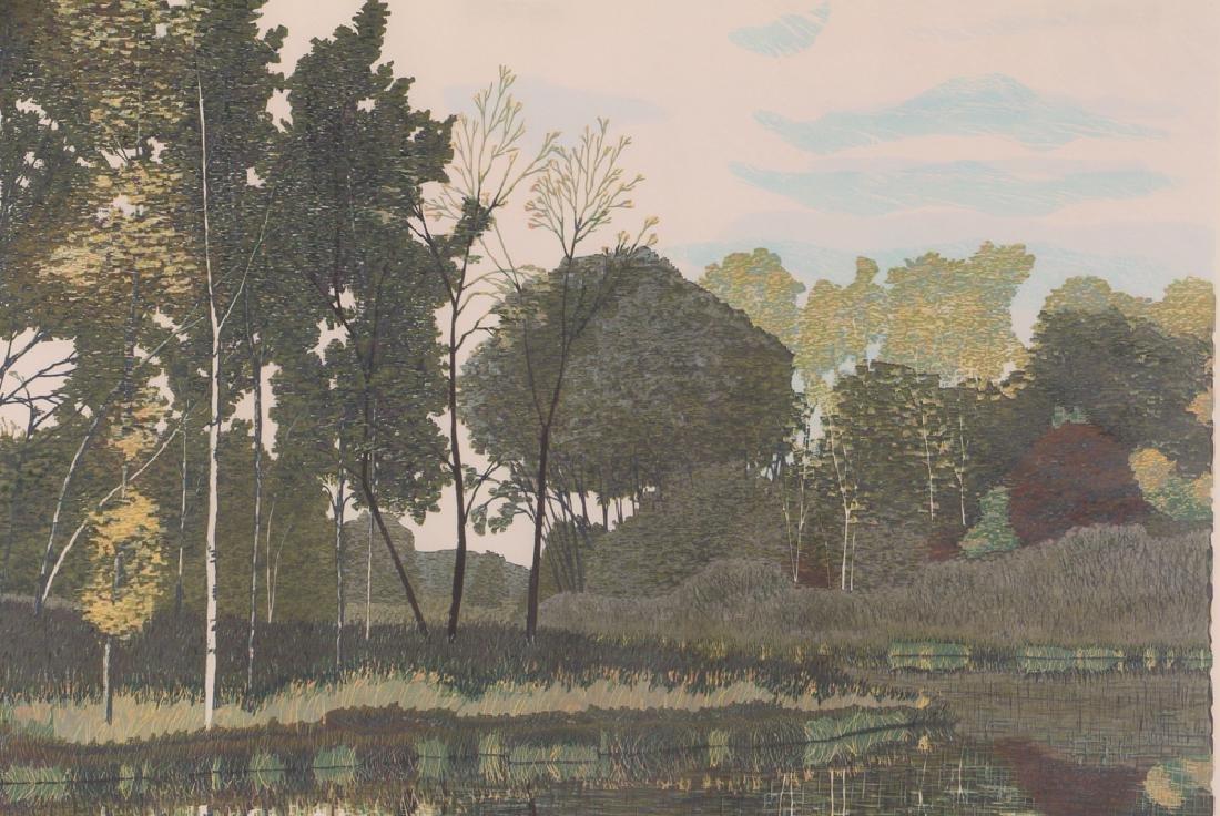 Gordon Mortensen Autumn Birch Reduction Woodcut - 6