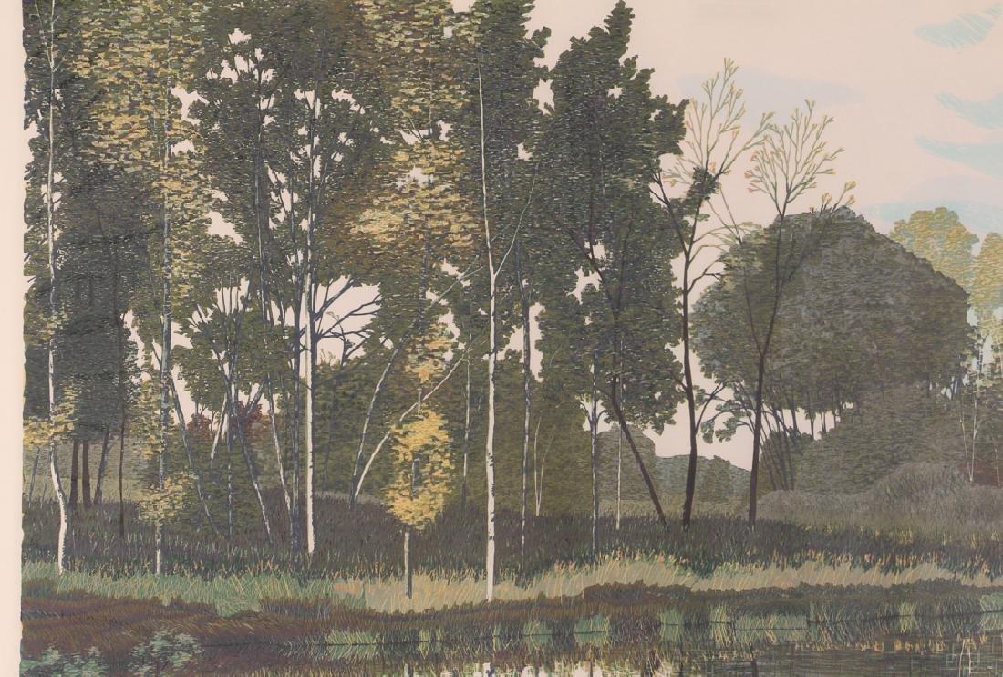 Gordon Mortensen Autumn Birch Reduction Woodcut - 7