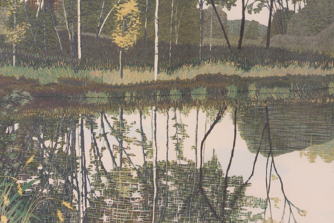 Gordon Mortensen Autumn Birch Reduction Woodcut - 8
