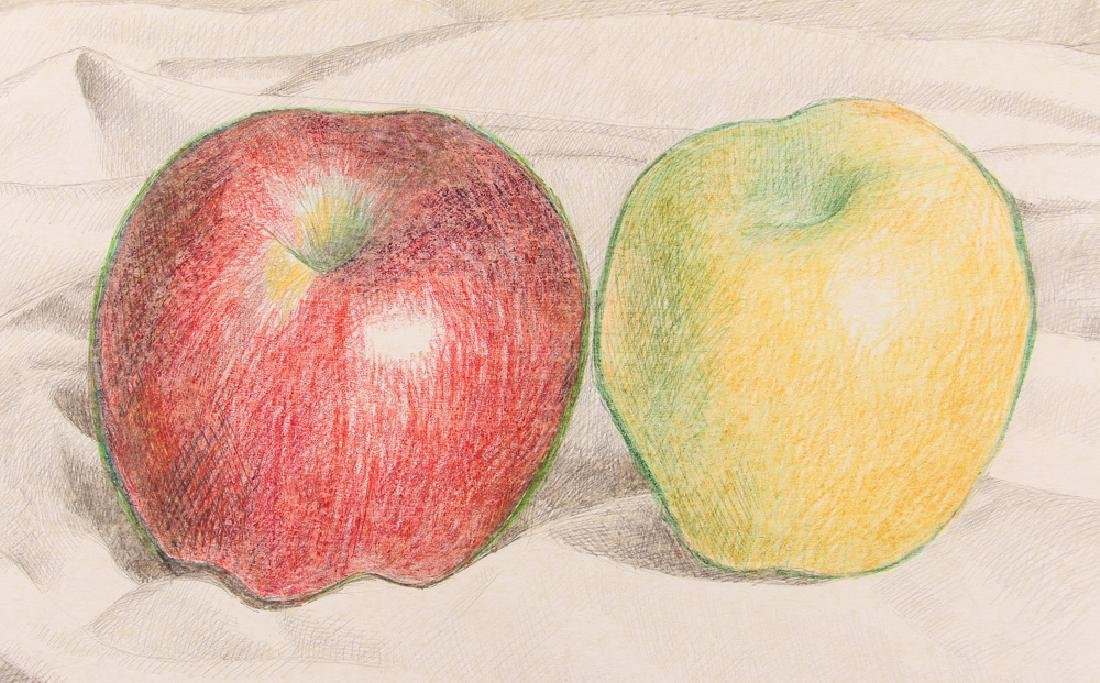 August Mosca 1968 Still-life, Apples drawing - 4